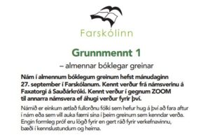 Read more about the article Undirbúningur fyrir haustönn kominn á fulla ferð