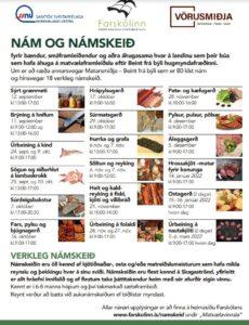 Read more about the article Nám og námskeið fyrir bændur og aðra áhugasama um matvælavinnslu